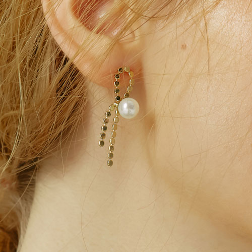 #341 RIBBON EARRING GOLD