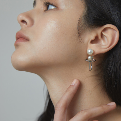 #907 EARRINGS [SILVER]